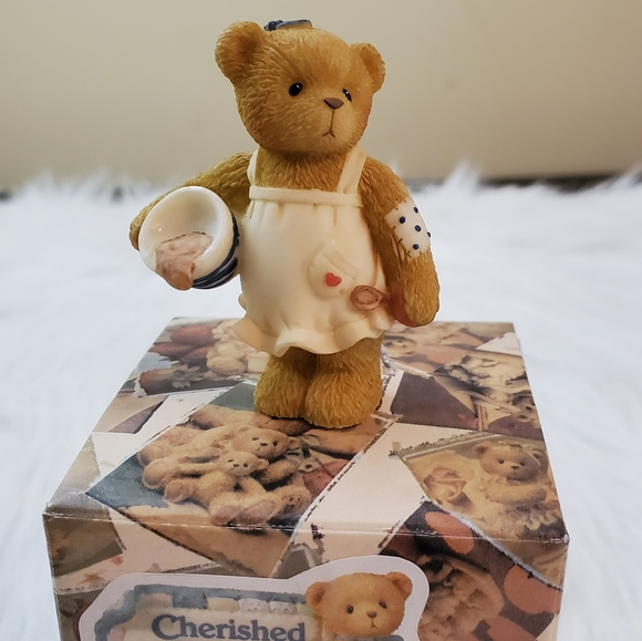 Cherished Teddies Girl W/Bowl Collectible Figurine